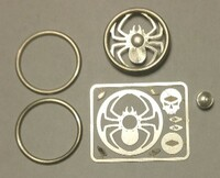 Spyder Skull Billet Steering Wheel Kit 1/24-1/25 Detail Master