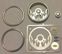 Tribal Skull Billet Steering Wheel Kit 1/24-1/25 Detail Master