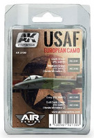 Air Series: USAF European Camo Acrylic Paint Set (4 Colors) 17ml Bottles AK Interactive