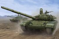 Russian T72B1 Mod 1986 Main Battle Tank w/Kontakt-1 Reactive Armor 1/16 Trumpeter