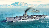 HMS Ark Royal Aircraft Carrier 1939 1/700 Trumpeter