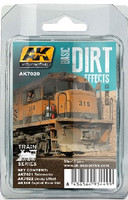 Train Series: Basic Dirt Effects Weathering Enamel Paint Set (3 Colors) 35ml Bottles AK Interactive