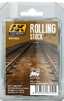 Train Series: Rolling Stock Weathering Paint Set (3 Colors) 35ml Bottles AK Interactive