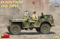 WWII Bantam 40BRC Military Car w/Gun & 5 Crew 1/35 MiniArt