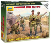 Soviet Headquarters Crew 1941-43 (4) (Snap) 1/72 Zvezda