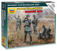 German Headquarters Crew 1939-42 (4) (Snap) 1/72 Zvezda