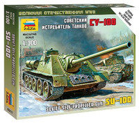 Soviet Su100 Self-Propelled Gun Tank (Snap) 1/100 Zvezda