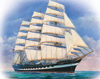 Russian Krusenshtern 4-Masted Sailing Ship 1/200 Zvezda