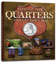 National Park Quarters Collector's Map Coin Folder Whitman