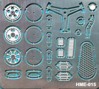 VW Beetle Detail Set 1 for TAM: Steering Wheel Spokes, Door Handles & Gear Shifter 1/24-1/25 Highlight Model Studio