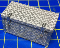 Diamond Plated Truck Bed Tool Box 1/24-1/25 Highlight Model Studio