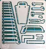 Tool Set (Wrenches, Saws, Pliers, etc.) 1/24-1/25 Highlight Model Studio