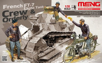 French FT-17 Light Tank Crew & Orderly Figure Set (3 Figures & Motorcycle) 1/35 Meng Models