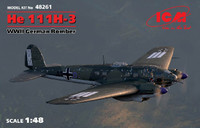WWII German He 111H-3 Bomber 1/48 ICM Models