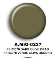 FS23070 Dark Olive Drab Acrylic Paint AMMO of Mig Jimenez