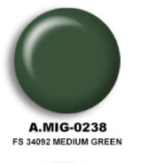 FS34092 Medium Green Acrylic Paint AMMO of Mig Jimenez