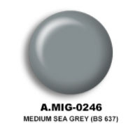 Medium Sea Grey (BS 637) Acrylic Paint AMMO of Mig Jimenez