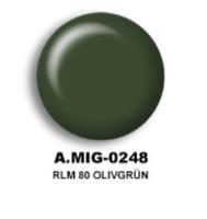 RLM 80 Olivgrun Acrylic Paint AMMO of Mig Jimenez