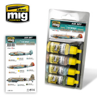 Luftwaffe Desert Colors Acrylic Paint Set (4 colors) AMMO of Mig Jimenez