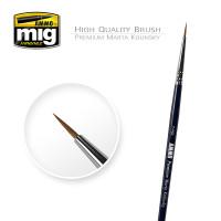 2/0 Premium Marta Kolinsky Round Brush AMMO of Mig Jimenez