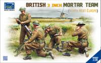 British 3-Inch Mortar & Team (4) North West Europe 1/35 Riich