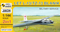 LET L13/TZ13 Blanik Military Service Two-Seater Glider (2 in 1) 1/144 Mark I Models