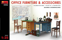 Office Furniture & Accessories 1/35 Miniart Models