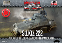 WWII SdKfz 222 German Light Armored Tank 1/72 First To Fight Models