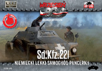 WWII SdKfz 221 German Light Armored Tank 1/72 First To Fight Models