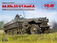 WWII German SdKfz 251/1 Ausf A Armoured Personnel Carrier 1/35 ICM Models