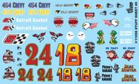 Stuff Sheet #5 - Chevy, Detroit Gasket, Hemi Hunter, etc. 1/24-1/25 Gofer Racing Decals