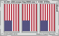 WWII USN Ensign Flags Size 1 Steel (Painted) 1/350 Eduard