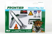 Frontier Airlines Die Cast Playset (8pc Set) Realtoy International