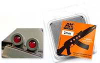 2mm Red Light Lenses (4) AK Interactive