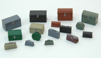 Vintage Luggage & Trunk Set (16) HO Scale JL Innovative