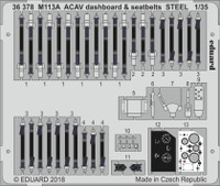 M113A ACAV Dashboard & Seatbelts Steel for AFV (Painted) 1/35 Eduard