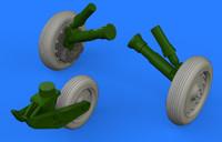 F-8 Crusader Wheels for EDU & HSG (Mask, Decals & Resin) 1/48 Eduard