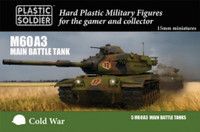 Cold War M60A3 Main Battle Tank (5) & Crew (10) 15mm Plastic Soldier