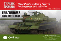 Cold War Soviet T55/AM2 Main Battle Tank (3) 1/72 Plastic Soldier