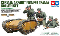 German Assault Pioneer Team (3) & Goliath Tracked Mines (2) 1/35 Tamiya