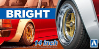 "Bright 14"" Tire & Wheel Set (4) 1/24 Aoshima"