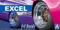 "Excel 14"" Tire & Wheel Set (4) 1/24 Aoshima"
