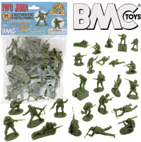 Iwo Jima US Marines Figure Playset (Olive) (36pcs) 54mm BMC Toys