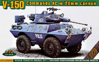 V150 Commando AC Armored Personnel Carrier w/20mm Gun 1/72 Ace Models