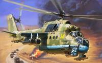 Soviet Mi-24P Hind Attack Helicopter 1/72 Zvezda