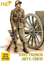 WWII French Artillery Crew (32) 1/72 Hat