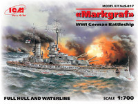 WWI German Markgraf Battleship 1/700 ICM Models