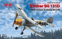 WWII German Bucker Bu131D Training Aircraft 1/32 ICM Models