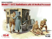 WWI American Model T 1917 Ambulance w/4 Medical Personnel 1/35 ICM Models