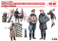 WWII German Luftwaffe Pilots & Ground Personnel Winter Uniforms (5) 1/48 ICM Models